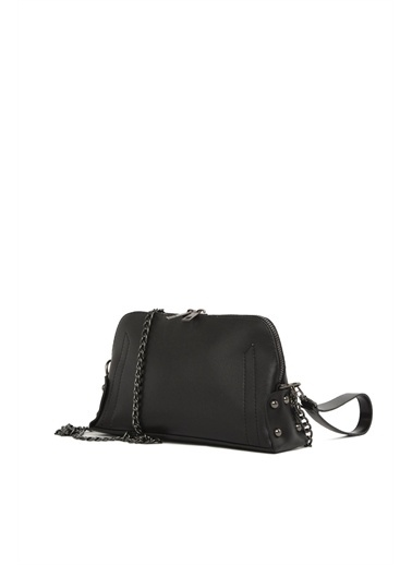 Bagmori Kadın Üç Bölmeli Mini Cüzdan Askılı Çanta M000003437 Siyah